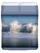 Waves Against The Wind Duvet Cover