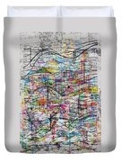 Waves And Particles Duvet Cover