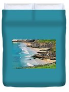 Waves Coming Ashore At Sybil Point Ireland  # 1 Duvet Cover