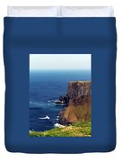Waves Crashing At Cliffs Of Moher Ireland Duvet Cover