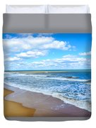 Waves Lapping On Beach 3 Duvet Cover