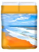 Waves Lapping On Beach 8 Duvet Cover