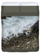 Waves Meet Pebbles Duvet Cover
