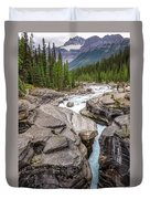 Waves Of ... Granite At Mistaya Canyon, Canada Duvet Cover