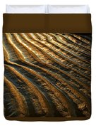 Waves Of Gold Duvet Cover