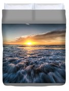 Waves Of The Sunset Duvet Cover