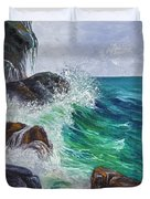 Waves On Maui Duvet Cover