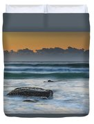 Waves Rolling In At Sunrise Duvet Cover