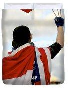 Waving The Flag Duvet Cover