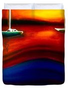 Wavy Bay  Duvet Cover