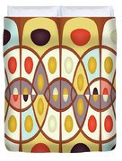 Wavy Geometric Abstract Duvet Cover