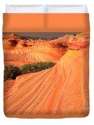 Wavy Sunset Curves Duvet Cover