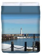 Wawatam Lighthouse Duvet Cover
