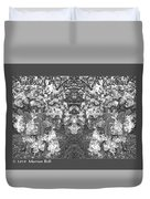 Waxleaf Privet Blooms In Black And White Abstract Poster Duvet Cover