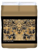Waxleaf Privet Blooms In Black And White - Color Invert With Golden Tones Abstract Duvet Cover