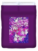 Waxleaf Privet Blooms On A Sunny Day With Magenta Hue Duvet Cover