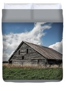 Way Of Life - Weathered Barn In Kansas Duvet Cover