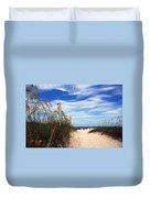 Way Out To The Beach Duvet Cover