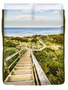 Way To Neck Beach Duvet Cover