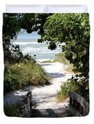 Way To The Beach Duvet Cover