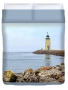 Way To The Lighthouse Duvet Cover