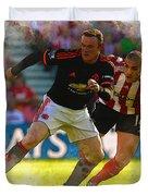 Wayne Rooney Is Marshalled Duvet Cover