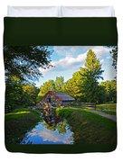 Wayside Inn Grist Mill Reflection Duvet Cover