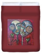 We Live With Love In Our Hearts Duvet Cover