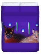 We Two Cats Duvet Cover