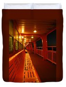 Weather Deck Starboard Side Night Duvet Cover