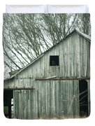 Weathered Barn In Winter Duvet Cover by Cricket Hackmann