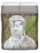 Weathered Buddha Statue Duvet Cover