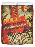 Weathered Bus Routes Duvet Cover