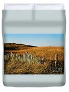 Weathered Dune Fence. Duvet Cover