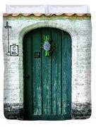 Weathered Green Door Duvet Cover