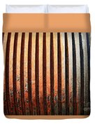 Weathered Metal With Rows Duvet Cover