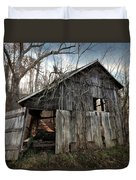 Weathered Old Abandoned Barn Duvet Cover