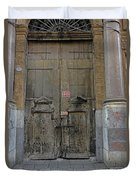 Weathered Old Door On A Building In Palermo Sicily Duvet Cover