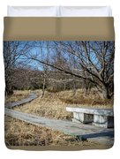Weathered Path Through Dunes Duvet Cover