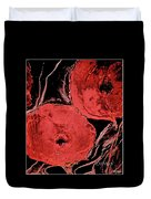 Weathered Poppies Duvet Cover