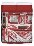 Weathered Red Door 1 Duvet Cover