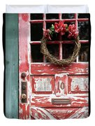 Weathered Red Door 3 Duvet Cover
