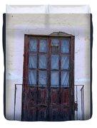 Weathered Red Wood Door Duvet Cover