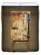 Weathered Rusty Refrigerator Duvet Cover