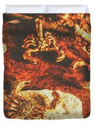 Weathered Scorpion Art Duvet Cover