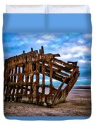 Weathered Shipwreck Duvet Cover