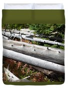 Weathered Trees Fallen Down Within Yellowstone National Park Duvet Cover