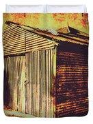 Weathered Vintage Rural Shed Duvet Cover