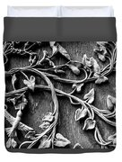 Weathered Wall Art In Black And White Duvet Cover