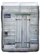 Weathered Wooden Door In France Duvet Cover